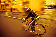 (Stromboly) Tags: bike bicycle calle ride fast bicicleta amanecer bici cinematic velocidad tlalpan rpido barrido rodar lx5