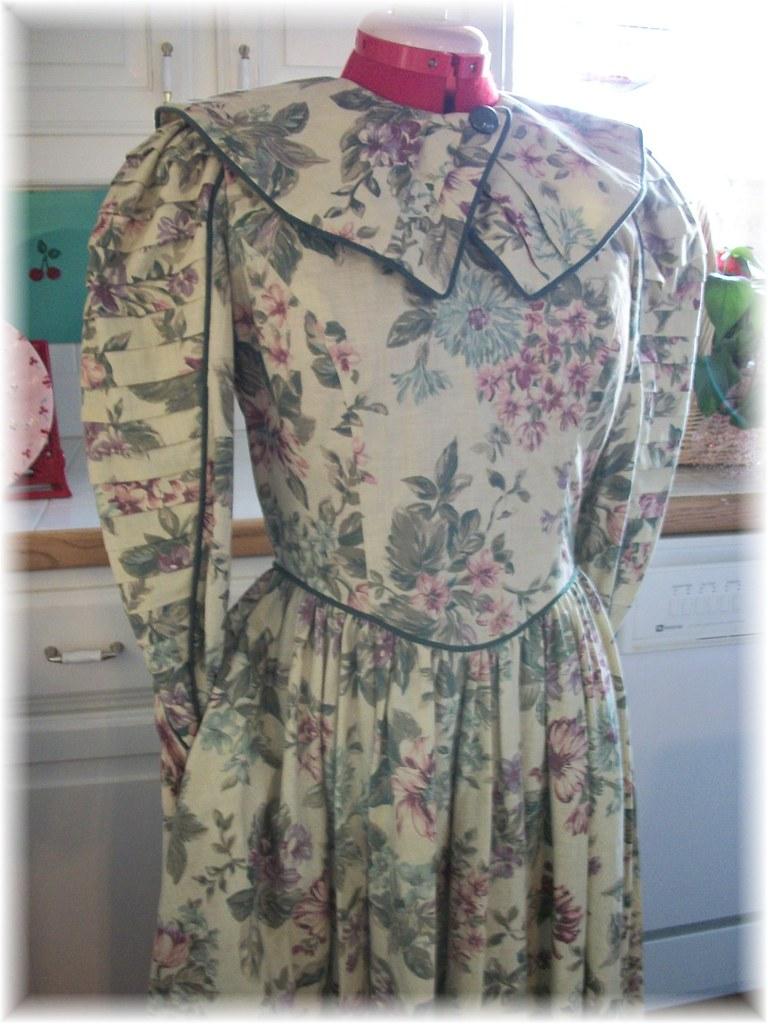 Romantic 80s does Victorian Easter Tea Dress Medium