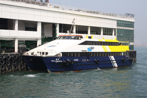 "HKKF ferry ""Sea Smooth"" at Central Piers"