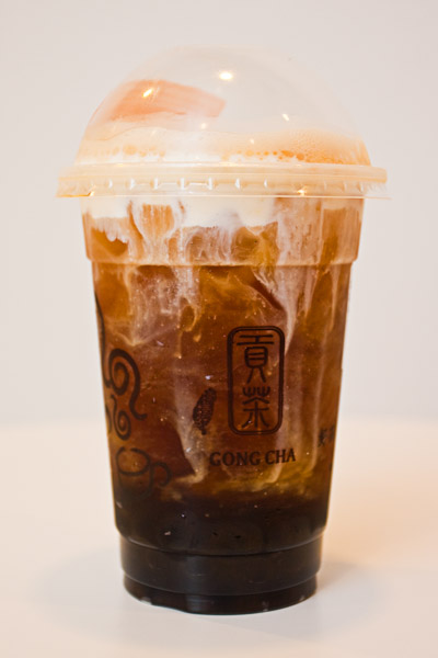 Gong Cha Signature Black Milk Tea With Pearls
