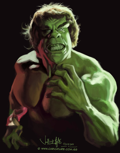digital sketch study 2 of Lou Ferrigno - 4