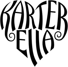 """Karter"" & ""Ella"" Heart Design"
