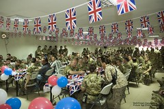 ISAF Troops in Afghanistan Celebrate the Royal Wedding (Defence Images) Tags: afghanistan sports prince bbq celebrations soldiers troops kabul royalwedding herrick ijc isaf williamandkate isafjointcommand