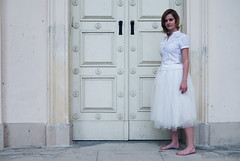 White doors (Catherine King) Tags: antique skirt threegraces
