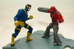 CYCLOPS VS COMMANDO (kingkong21) Tags: cyclops vs 1995 marvel hardees commando