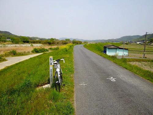 小田川沿いを帰る