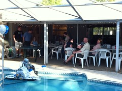 Getting the party started at #DecepticonHQ #EndlessBBQ! (herrea) Tags: camera by phone image taken herrea