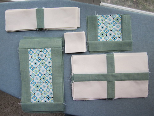 Completed blocks for quilt top