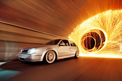 The Escape (Ronaldo.S) Tags: light motion wool vw painting nikon ride steel air low automotive tokina rig spinning gti f28 slammed vr6 mk4 d90 1116mm