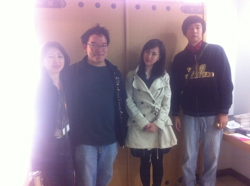 Yuka Sakano, me, Kiki and Daishi Matsunaga after the Q and A session