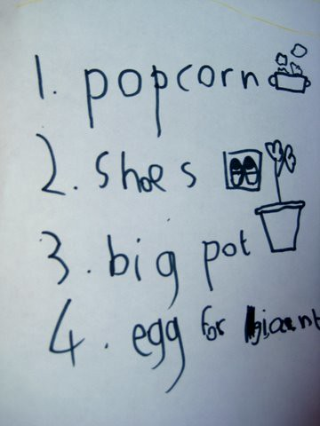 shopping list literacy idea