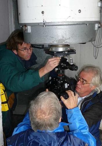 Instalación del telescopio MONS