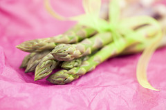 Bundle of Asparagus (Suzie Banks) Tags: pink food green spring vegetable asparagus bunch bundle