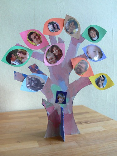 Stumbles Stitches Family Tree A Paper Craft For Kids