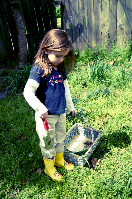 Eliza Preparing to Garden