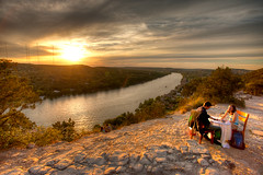 The Proposal (michaelcummings) Tags: sunset austin engagement texas proposal hdr mtbonnell