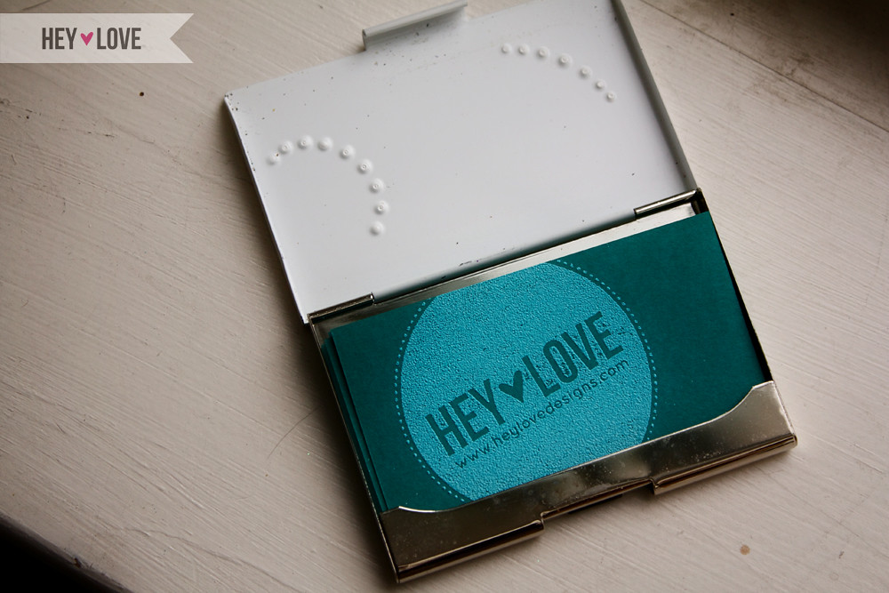 New Hey Love Business Cards