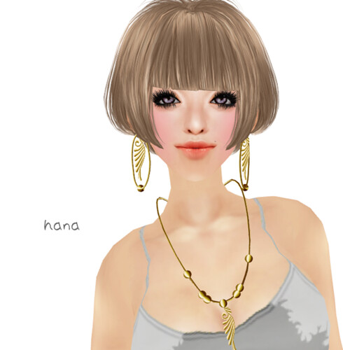 Aglaia - Golden Wings Necklace & Earrings(1L)