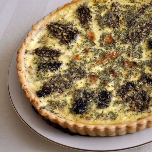 Morel and Onion Quiche