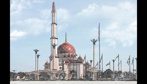 Putra Mosque - Putrajaya, Malaysia by namida -