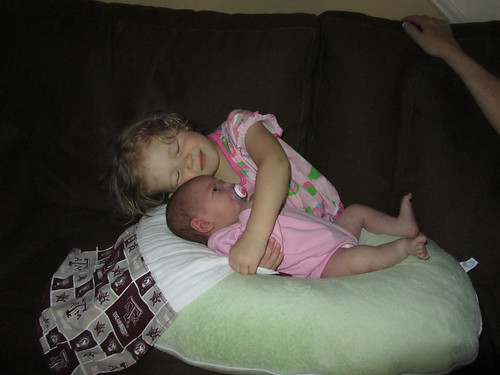 Claire and her baby sister