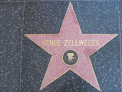 Renee Zellweger's star on Hollywood BLVD