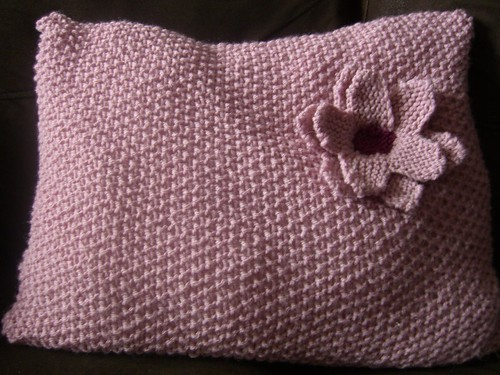 Knitted Cushion by Aunt Angie.