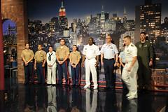 The Late Show (ussnewyork) Tags: fleetweeknewyork2011 servicemembers sailors marines airmen davidletterman lateshow newyork usnavy ny unitedstates