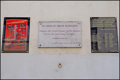 13 - 29 mai 2011 Paris 41 rue du groupe Manouchian Plaques commémoratives