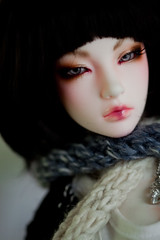 Iplehouse Asa Faceup Commission (aEthEr hEad) Tags: ball asian doll bjd commission abjd aesthetics jointed faceup zephiroth