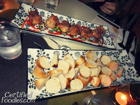 Crabby Namee (wanton, crab, cream cheese, parmesan cheese, and scallions inside) - Our appetizer - CertifiedFoodies.com