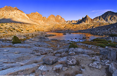 Rugged Dusy Basin - Kings Canyon National Park (David Shield Photography) Tags: california sunset lake mountains color reflection nature landscape nikon hiking pass explore backpacking wilderness peaks bishop rugged palisades easternsierras kingscanyonnationalpark bishoppass dusybasin explored naturesgreenpeace