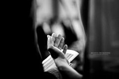 Receive the Blessing [ Explore ] (Franck Tourneret) Tags: wedding bw love 50mm nikon hand femme main pray nb blessing amour mariage receive promise promesse donner bndiction prier recevoir d700 xomen