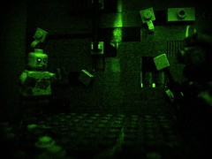 The Metro-Survival Guide Contest-Always carry a flashlight ( Roku ) Tags: paint gun post lego mask metro zombie apocalypse knife gas hazel ama mutant survival apoc brickarms