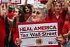 Nurses Rally to Tax Wall Street