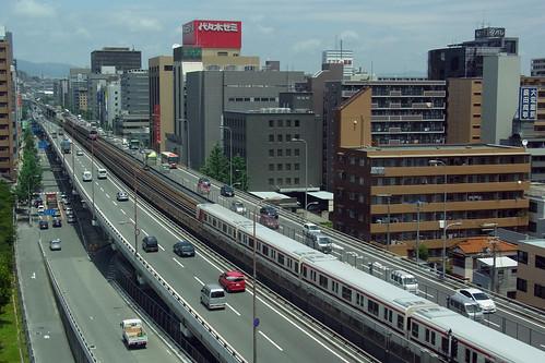 view from RICOH Osaka Camera Service Center