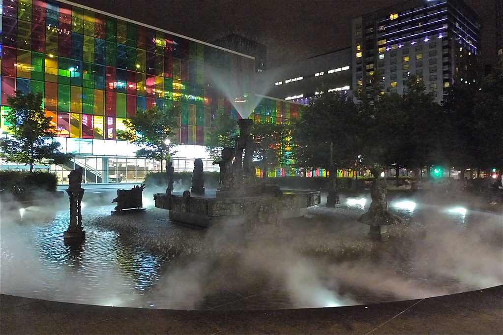 Copyright Photo: Place Jean-Paul-Riopelle: Montreal Fountain La Joute Stage 2 by Montreal Photo Daily, on Flickr