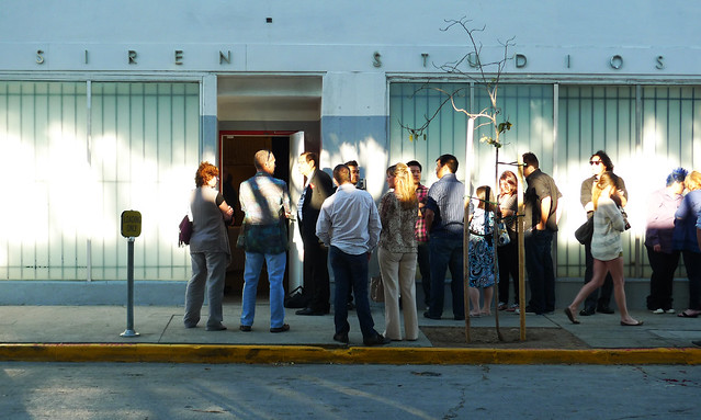 Line starts to form for Savor Los Angeles Pairings! at Siren Studios.