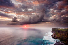 """Cliff's of Bali"" Indoesia ~ Ocean ~ Storm ~ Lightroom ~ Photography (Dan Ballard Photography) Tags: ocean light sunset bali cliff sun water clouds indonesia nikon emotion turquoise lee nd stunning filters grad drama hdr not"