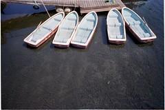 Five boats.