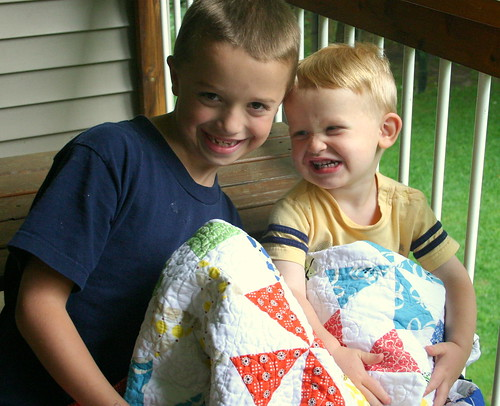 My boys and their quilts
