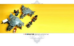 Project: Lotus47 (Teaser 40) (icycruel) Tags: lego moc scifi project lotus outpost charlie gunship ground crew