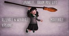 Sprinkles . broom pose gift (Kia.Ambrosine) Tags: sl secondlie secondlife harrypotter halloween gacha atp td toddleedoo kid baby child virtualfashion virtualworld