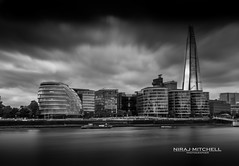 London Icons (TimeTraveller37) Tags: shard city cityhall towerhill london blackwhite longexposure mono monochromatic icons cityscape riverthames riverbank thames sky skyline boats clouds windy cold architecture architecturaleyecandy architecturalicons buildings uk londonlandmarks visitlondon londonist timeout timeoutlondon