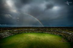 Grianan Aileach Rainbow (Mr Bultitude) Tags: grianan aileach fort donegal ireland rainbow grass green