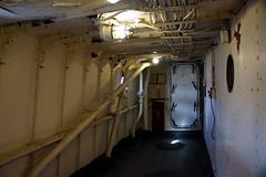 Lightship Corridor, Boston MA (Boston Runner) Tags: lightship nantucket lv112 boston harbor massachusetts 1936 shipyard marina eastboston museum preserved interior corridor cables pipes