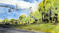 route 34 (Frdric Glorieux) Tags: frdricglorieux france route road acryl a4 peinture painting