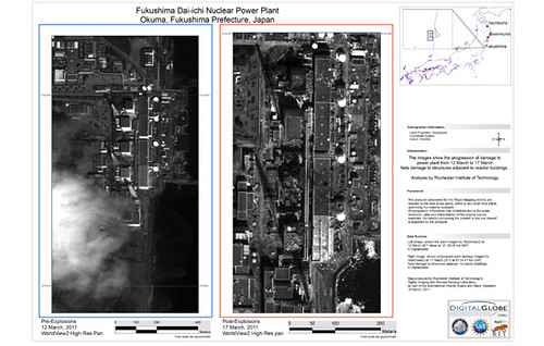 High-Resolution Imagery Map of Fukushima Nuclear Power Plant