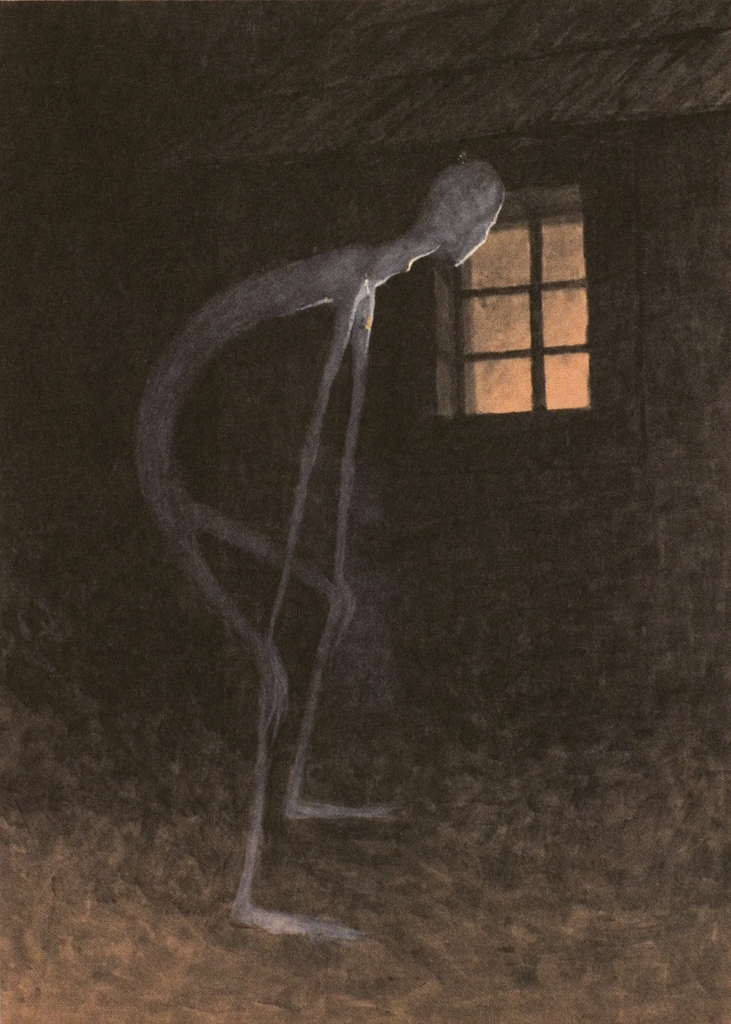 Jaroslav Panuška - Death Looking into the Window of One Dying, 1900