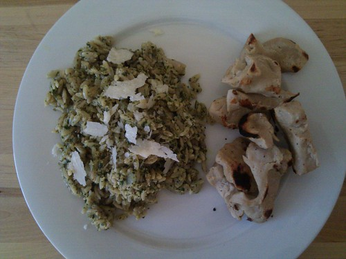 Orzo with Mint Pesto